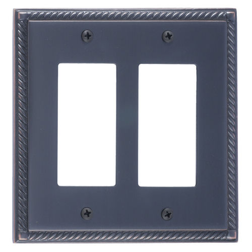 Brass Accents M06-S8570 Georgian Double GFCI, Venetian Bronze