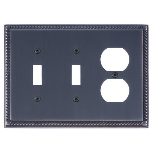 Brass Accents M06-S8580 Georgian Triple, 2-Switch/1-Outlet, Venetian Bronze