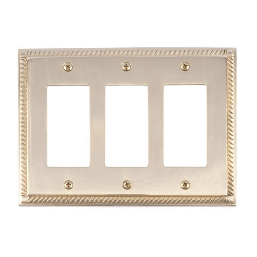 Brass Accents M06-S8590 Georgian Triple GFCI, Polished Brass