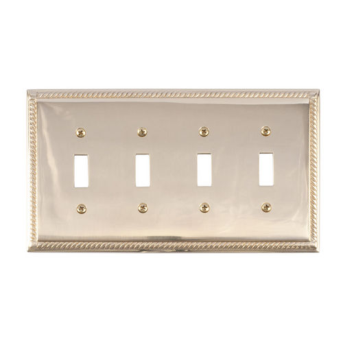 Brass Accents M06-S8591 Georgian Quad Switch, Polished Brass