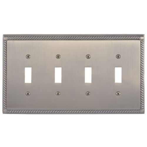 Brass Accents M06-S8591 Georgian Quad Switch, Antique Brass