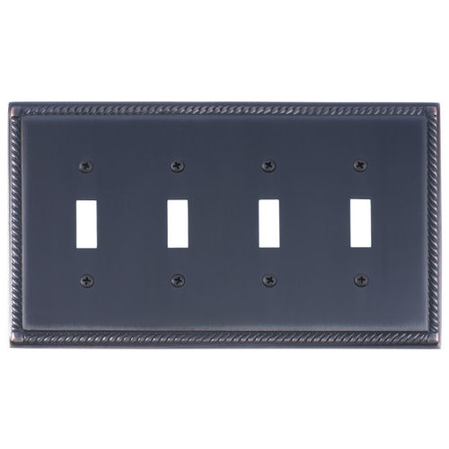 Brass Accents M06-S8591 Georgian Quad Switch, Venetian Bronze