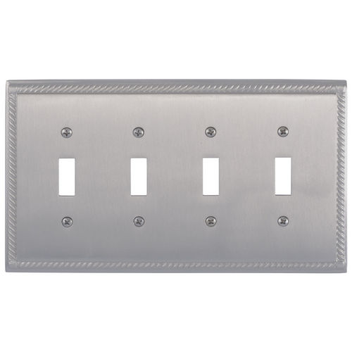 Brass Accents M06-S8591 Georgian Quad Switch, Satin Nickel