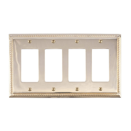 Brass Accents M06-S8592 Georgian Quad GFCI, Bright Brass