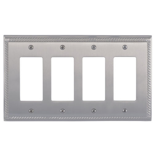 Brass Accents M06-S8592 Georgian Quad GFCI, Satin Nickel