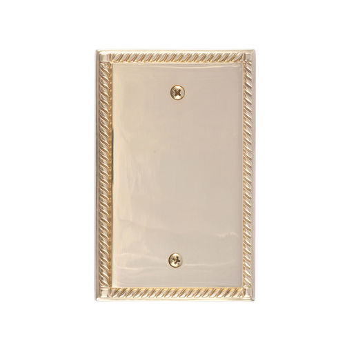 Brass Accents M06-S85X0 Georgian Single Blank, Polished Brass