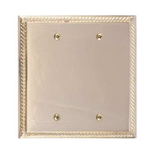 Brass Accents M06-S85XX Georgian Double Blank, Polished Brass