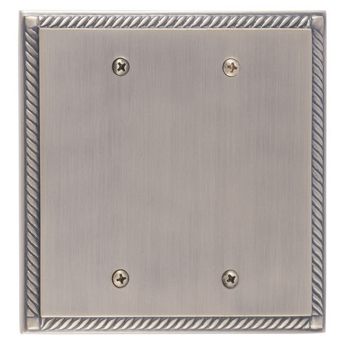 Brass Accents M06-S85XX Georgian Double Blank, Antique Brass