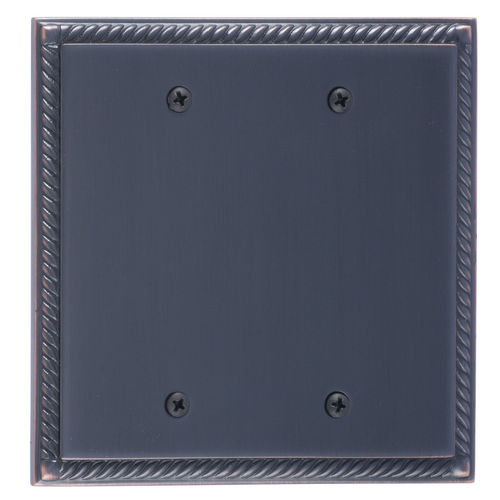 Brass Accents M06-S85XX Georgian Double Blank, Venetian Bronze
