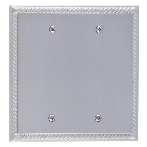Brass Accents M06-S85XX Georgian Double Blank, Satin Nickel