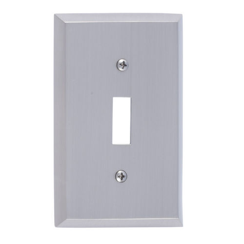 Brass Accents M07-S4500 Quaker Single Switch, Satin Nickel