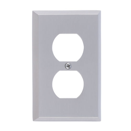 Brass Accents M07-S4510 Quaker Single Outlet, Satin Nickel
