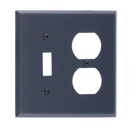 Brass Accents M07-S4540 Quaker Double; 1-Switch/1-Outlet, Venetian Bronze