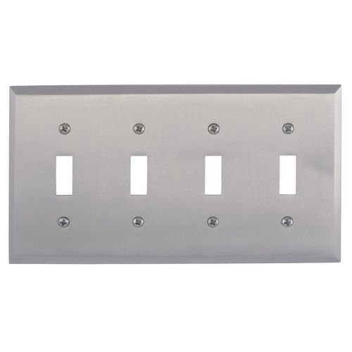 Brass Accents M07-S4591 Quaker Quad Switch, Satin Nickel