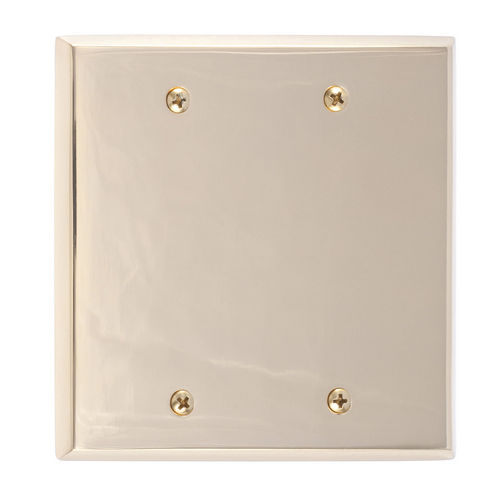 Brass Accents M07-S45XX Quaker Double Blank, Polished Brass