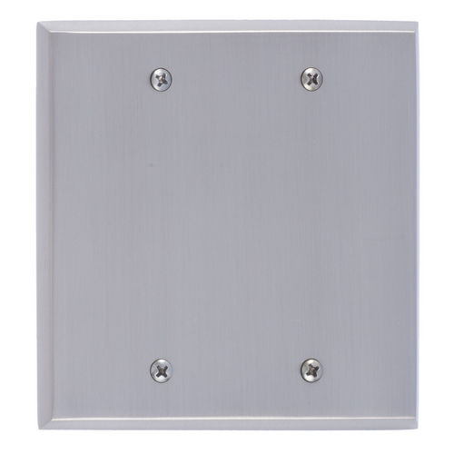 Brass Accents M07-S45XX Quaker Double Blank, Satin Nickel