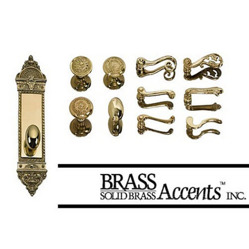 Brass Accents D04-K522D-EMP Renaissance Collection Door Plate Set, Aged Brass