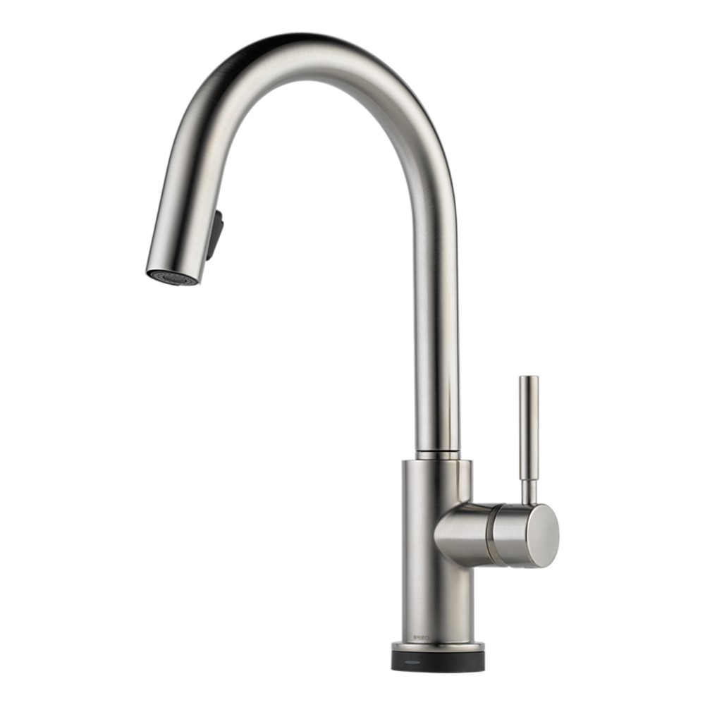 ... Faucets > Brizo 64020LF-SS Solna Single Hole Kitchen Faucet, Stainless
