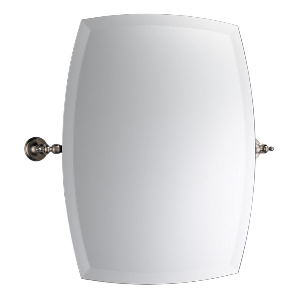 Model Cool Bathroom Vanity Mirrors Brushed Nickel Ideas For House