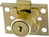 CCL 02065-1/2KA Half Mortise Disc Drawer Lock, Satin Brass
