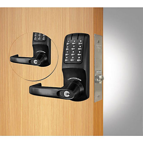 Codelocks CL5250BBFB Back to Back Mortise Keypad Lever Lock Flat Black