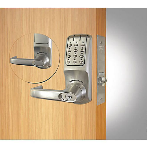 Codelocks CL5250BS Mortise Keypad Lever Lock Brushed Steel