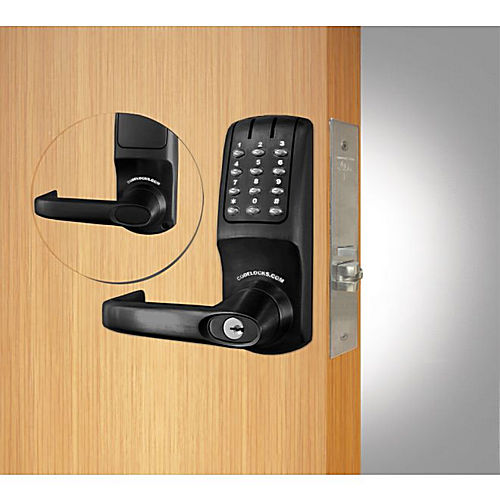 Codelocks CL5250FB Mortise Keypad Lever Lock Flat Black