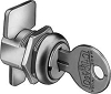 CompX C1974KA1289 Disc Metal Desk Lock