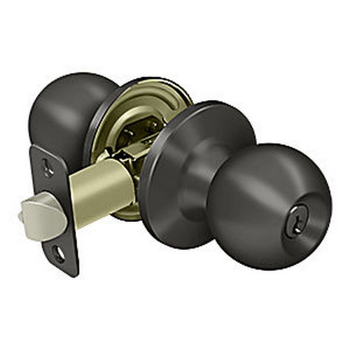 Deltana 6171-10B Round Knob Entry, Oil Rubbed Bronze (Each)