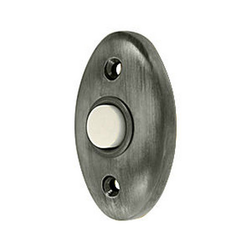 Deltana BBC20U15A Bell Button, Standard, Antique Nickel (Each)