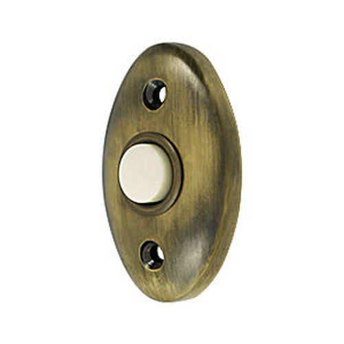 Deltana BBC20U5 Bell Button, Standard, Antique Brass (Each)