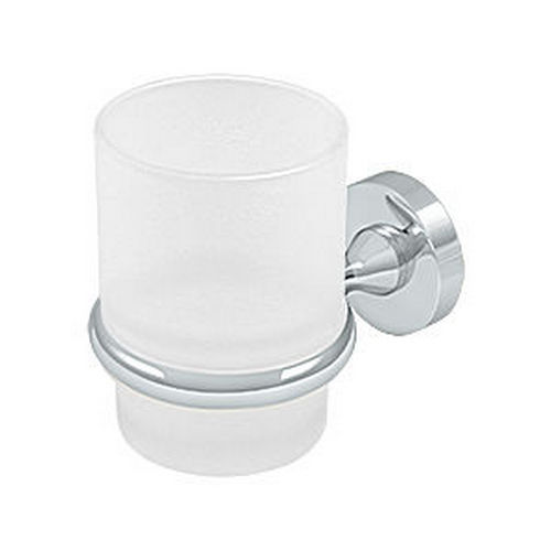 Deltana BBN2014-26 Tooth Brush Holder with Glass, Chrome (Each)