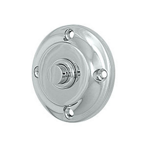 Deltana BBR213U26 Bell Button, Round Contemporary, Chrome (Each)