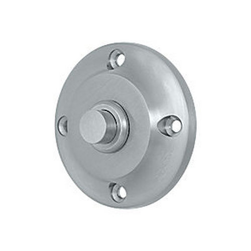 Deltana BBR213U26D Bell Button, Round Contemporary, Brushed Chrome (Each)