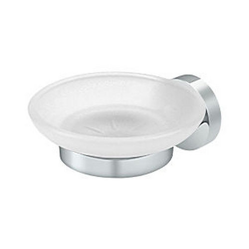 Deltana BBS2012-26 Soap Holder with Glass, Chrome (Each)