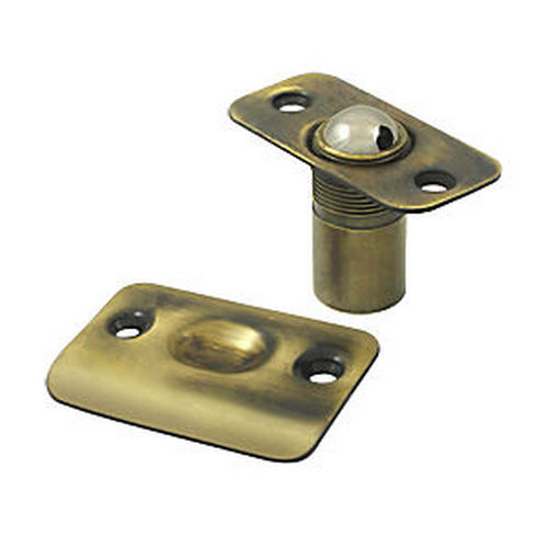 Deltana BC218RU5 Ball Catch, Round Corners, Antique Brass (Each)