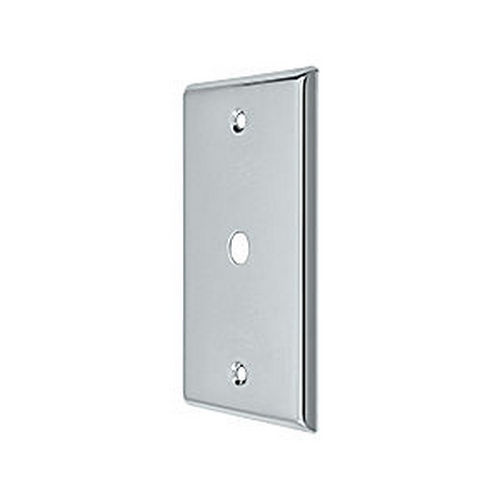 Deltana CPC4764U26 Switch, Cable Cover Plate, Chrome (Each)
