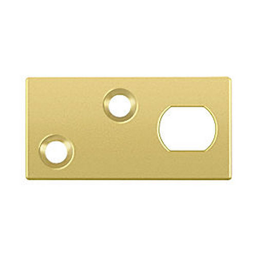 Deltana GP12EFB3 Guide Plate for 12EFB Extension Flush Bolt, Polished Brass (Each)