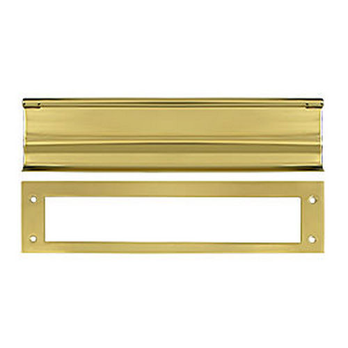 Deltana MS0030U3 Mail Slot, HD, Polished Brass (Each)