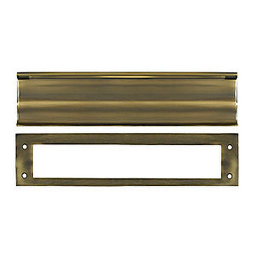 Deltana MS0030U5 Mail Slot, HD, Antique Brass (Each)