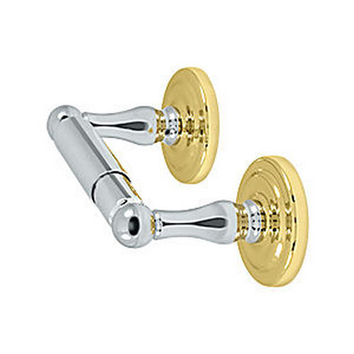 Deltana R2000-U26/3 Toilet Paper Holder, Double Post, Chrome/Brass (Each)