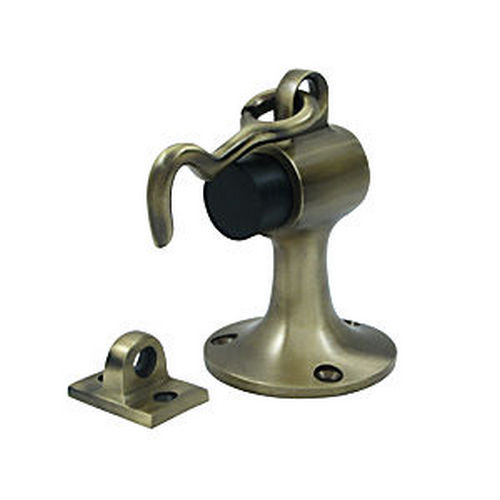 Deltana SAHF358U5 Floor Mount Bumper with Holder, Antique Brass (Each)