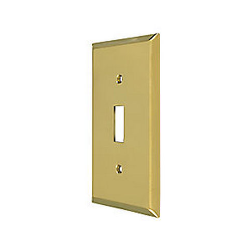 Deltana SWP4751U3 Switch Plate, Single Standard, Polished Brass (Each)