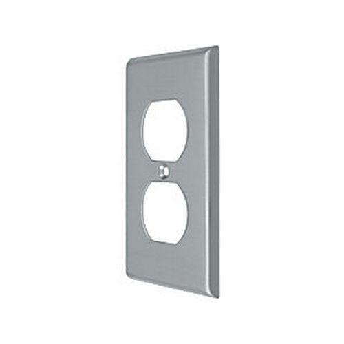 Deltana SWP4752U26D Switch Plate, Double Outlet, Brushed Chrome (Each)