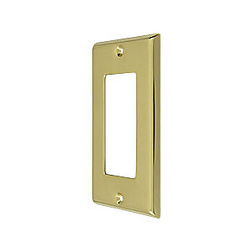 Deltana SWP4754U3 Switch Plate, Single Rocker, Polished Brass (Each)