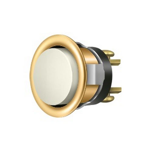 Deltana BBC20-REPL003 Replacement Bell Button, PVD Polished Brass