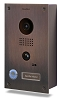 DoorBird D201B Video Doorbell , Full Stainless Steel, Bronze Finish, Flush