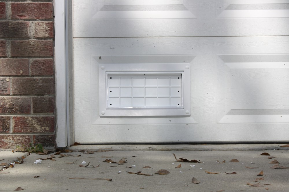 Garage Door Ventilation : Flood flaps ffnf gd w garage door vent white