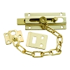 First Watch Security 1879 Chain & Bolt Door Guard, Polished Brass