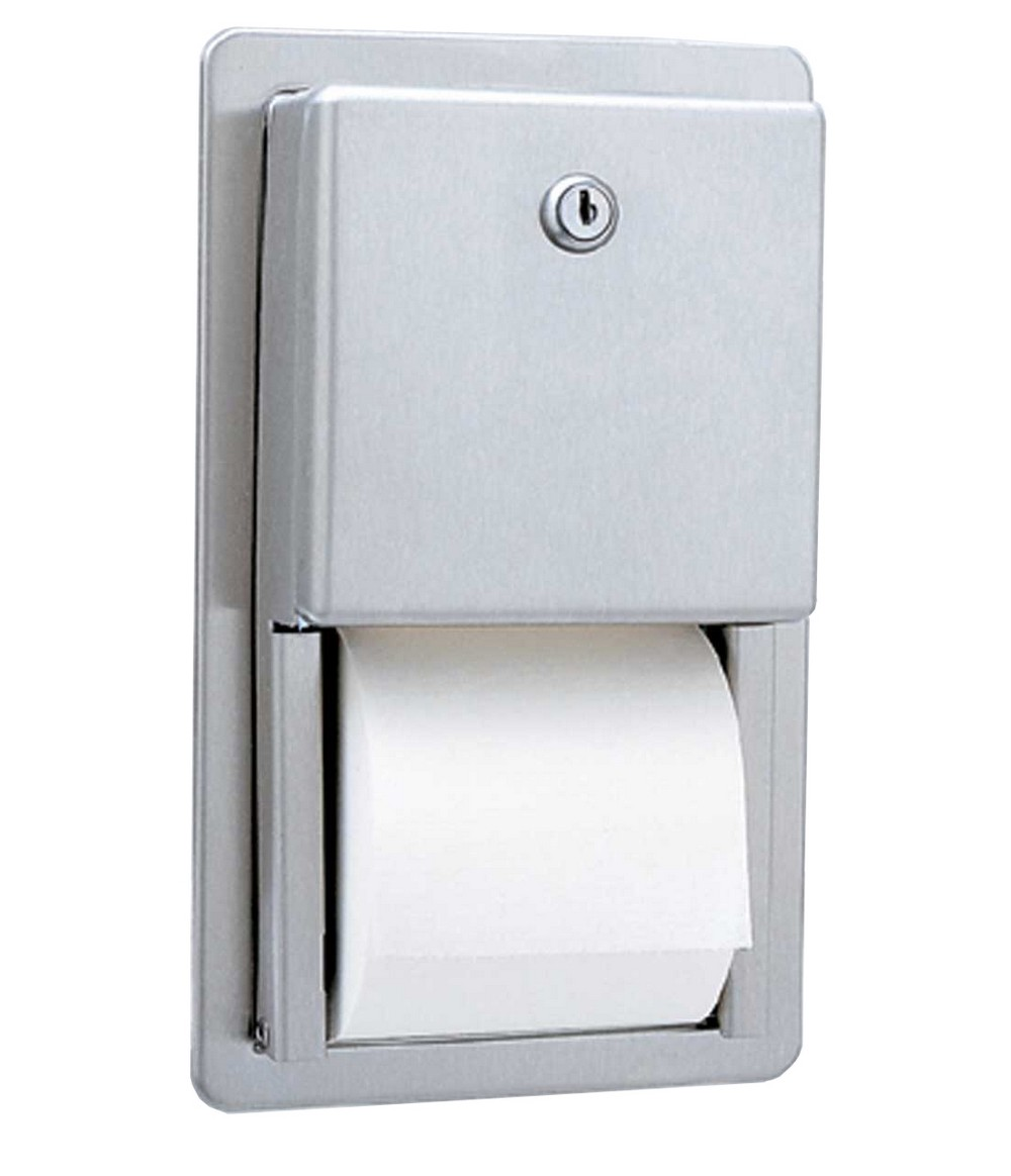 Gamco ttd 6 multi roll toilet tissue dispenser recessed for Toilet accessories